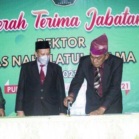 Serah Terima Jabatan Rektor UNU Lampung Periode 2021-2026